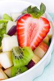 Strawberry and fruit salad — Stock Photo
