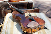 Violin and fiddle stick — Stock Photo