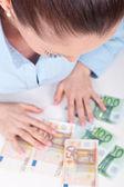 Lycka med kontanta pengar, koncept — Stockfoto