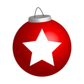 New year ball with star — Stock Photo