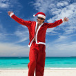 Happy Chistmas on the beach — Stock Photo #14150607