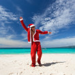 Happy Chistmas on the beach — Stock Photo #14561151