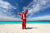 Happy Chistmas on the beach — Stock Photo