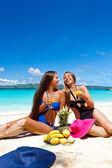 Piknik na plaży latem — Zdjęcie stockowe