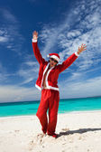 Happy Chistmas on the beach — Stock Photo