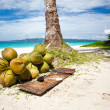 A lot of Coconuts on  beach — Stock Photo