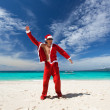 Happy Chistmas on the beach — Stock Photo #15599861