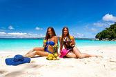 Picnic on summer beach — Stock Photo