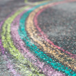 Chalk drawing of rainbow — Stock fotografie
