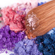 crumbled eyeshadows — Stock Photo