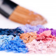 Crumbled eyeshadows - Stock Photo