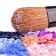 ストック写真: Crumbled eyeshadows