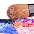 Stockfoto: Crumbled eyeshadows