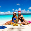 Summer Christmas on beach - Stock Photo