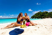 Picnic on summer beach — Stock Photo