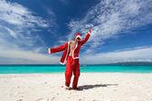 Felice natale sulla spiaggia — Foto Stock