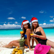 Royalty-Free Stock Photo: Celebrating christmas on tropical beach