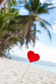 Romantic paradise on tropical beach — Stock Photo