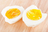 Eggs on wooden board — Stock Photo