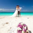 Happy Tropical Wedding — Stock Photo #24574109