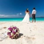Happy Tropical Wedding — Stock Photo