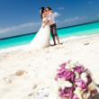 Happy Tropical Wedding — Stock Photo #24590917