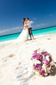 Happy Tropical Wedding — Stock Photo
