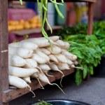 Chinese radish on market — Stock Photo