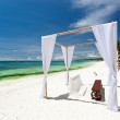 Stock Photo: Wedding arch on beach