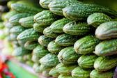 Bitter Melon (Momordica charantia) fruit at asian market — Stock Photo