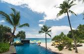 Swimpool in resort — Stock Photo