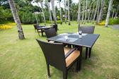 Resort restaurant on beach, Boracay — Stock Photo