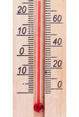 Atmospheric wooden thermometer — Foto de Stock