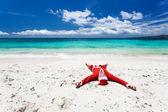 Santa Claus on beach — Stock Photo
