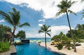 Swimming pool in resort — Stock Photo