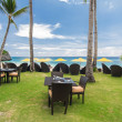 Resort restaurant on beach, Boracay — Stock Photo