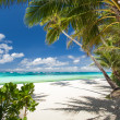 Tropical beach with white sand — Stock Photo