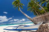 Tropical beach view — Stock Photo