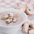 Mushrooms cream soup — Stock Photo