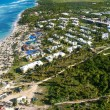 Aerial view of caribbean resort — Stock Photo