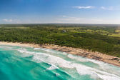 Aerial view of caribbean coastline — Stock Photo
