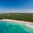 Stock Photo: Aerial view of caribbecoastline