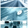 Airport collage — Stock Photo