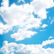 Blue cloudly sky — Stock Photo
