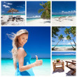 resor collage — Stockfoto