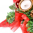 New year star and present boxes — Stock Photo #35452659