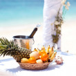 Wedding tropical celebration — Stock Photo