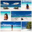 Caribbean collage — Stock Photo #36457347