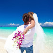 Stock Photo: Exotic tropical wedding