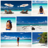 Caribische collage — Stockfoto
